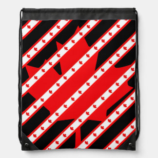 Canadian stripes flag drawstring bag