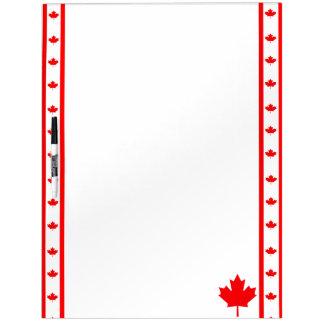 Canadian stripes flag dry erase board