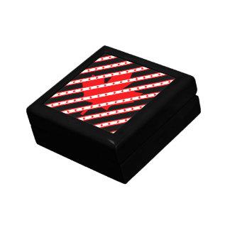 Canadian stripes flag gift box