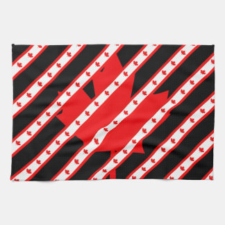 Canadian stripes flag kitchen towel