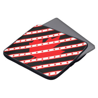 Canadian stripes flag laptop sleeve