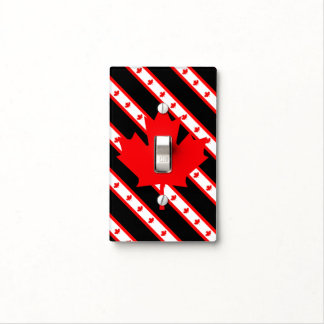 Canadian stripes flag light switch cover
