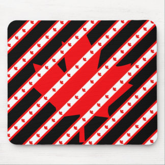 Canadian stripes flag mouse pad