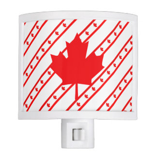 Canadian stripes flag night lights