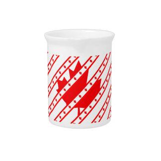 Canadian stripes flag pitcher