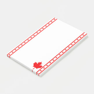 Canadian stripes flag post-it notes