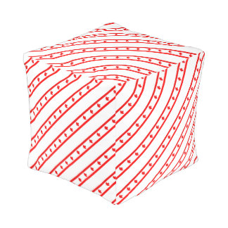 Canadian stripes flag pouf
