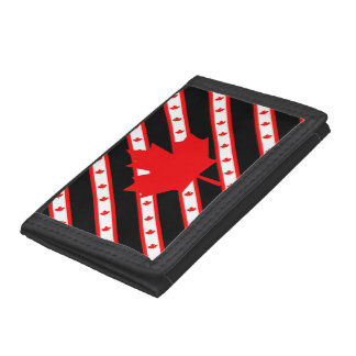 Canadian stripes flag trifold wallet