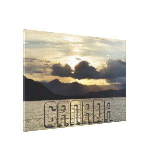 Canadian Sunset Canvas Print