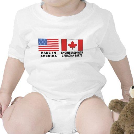 Canadian T-Shirt Baby Baby Bodysuit