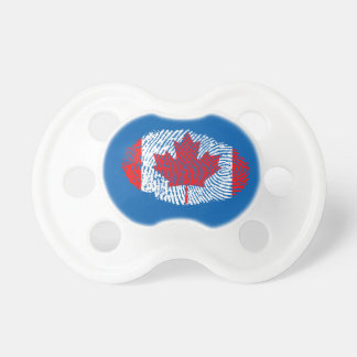 Canadian touch fingerprint flag baby pacifiers