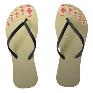 Canadian touch fingerprint flag flip flops