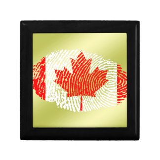 Canadian touch fingerprint flag jewelry boxes