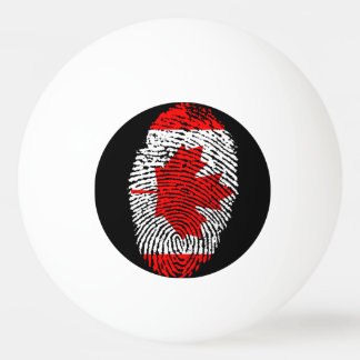 Canadian touch fingerprint flag ping pong ball