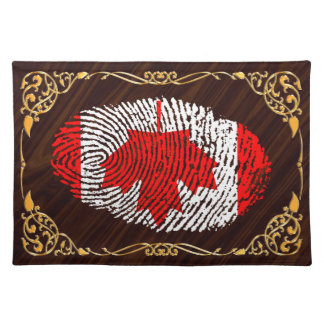 Canadian touch fingerprint flag place mat