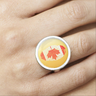 Canadian touch fingerprint flag ring