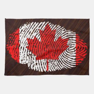 Canadian touch fingerprint flag towel