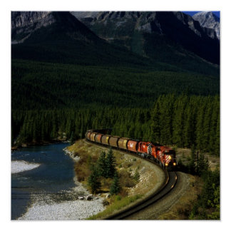 Canadian Train Poster
