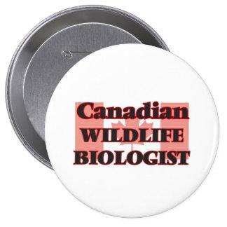 Canadian Wildlife Biologist 4 Inch Round Button