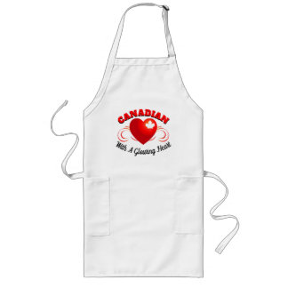 Canadian - With a Glowing Heart Long Apron