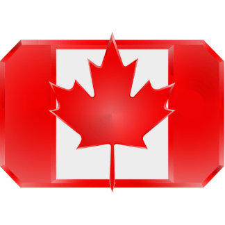 Canadiand Flag Shield cut-out magnet Standing Photo Sculpture