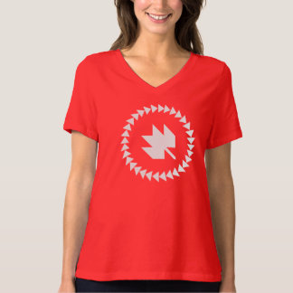 Canadians at QuiltCon Red V-neck T-Shirt