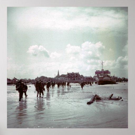 Canadians Juno Beach D-Day France World War II Poster