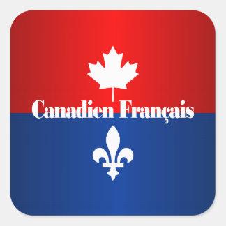 Canadien Francais 2 Square Sticker