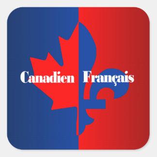 Canadien Francais Square Sticker