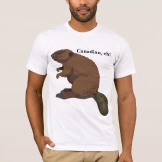 Canadien, hein ! T-shirt mignon de castor de bande