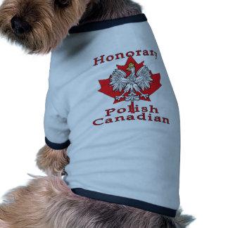 Canadien polonais honorifique t-shirts pour toutous