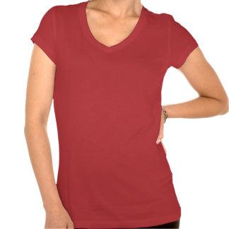 Canadiens au V-cou de rouge de QuiltCon T-shirt