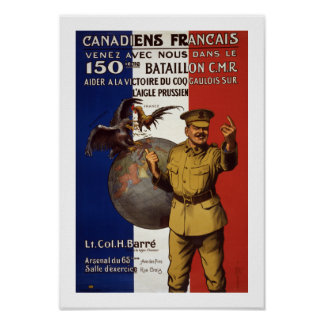 Canadiens Francais (border) Poster