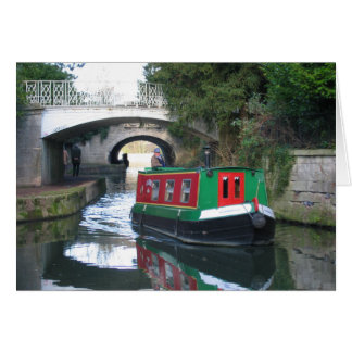 Canal Boat Bath Card