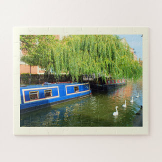 Canal boats in Lincoln Jigsaw Puzzle