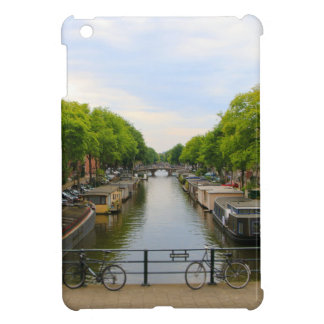 Canal, bridges, bikes, boats, Amsterdam, Holland iPad Mini Case