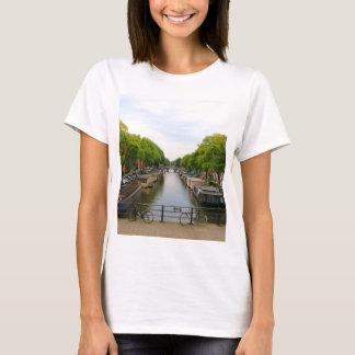 Canal, bridges, bikes, boats, Amsterdam, Holland T-Shirt
