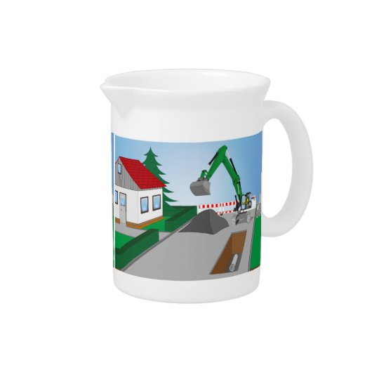 Canal construction place drink pitchers
