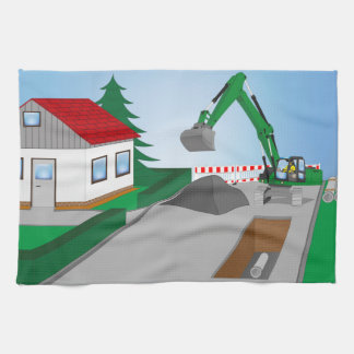 Canal construction place hand towel