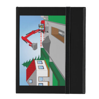 Canal construction place iPad case