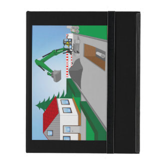 Canal construction place iPad folio case