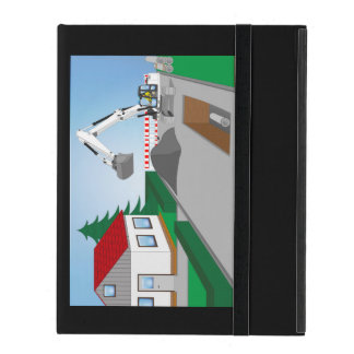 Canal construction place iPad folio cover