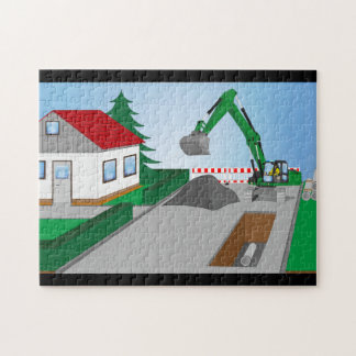 Canal construction place jigsaw puzzle