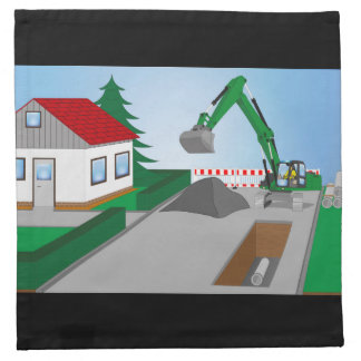 Canal construction place napkin
