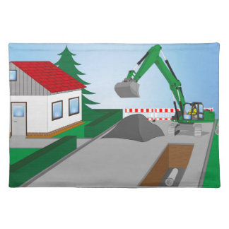 Canal construction place place mats