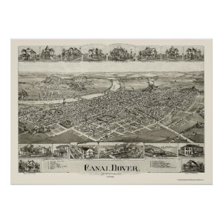 Canal Dover, OH Panoramic Map - 1899 Poster