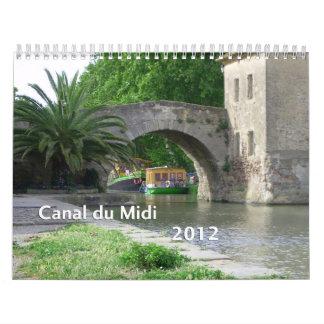 Canal du Midi 2012 Calendars