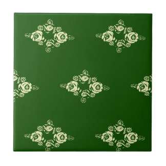 Canal flowers green tile from canalsbywhacky