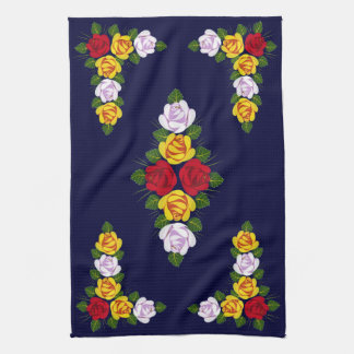Canal folk art kitchen towel
