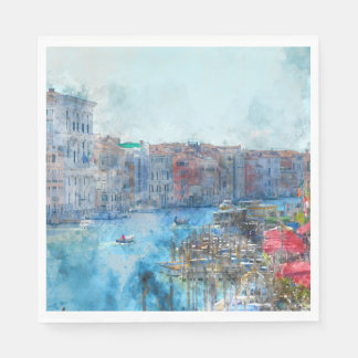 Canal Grande in Venice Italy Disposable Napkin